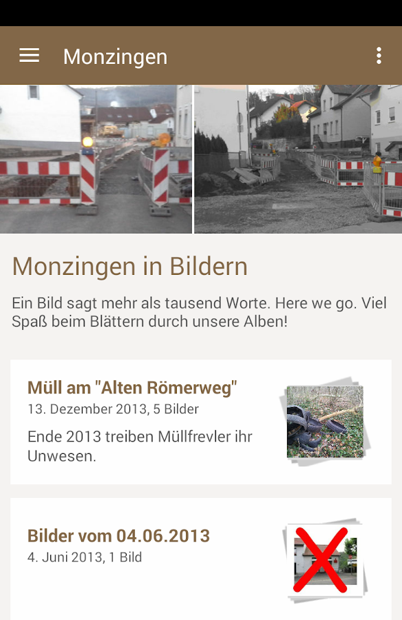 meinMonzingen.de- screenshot