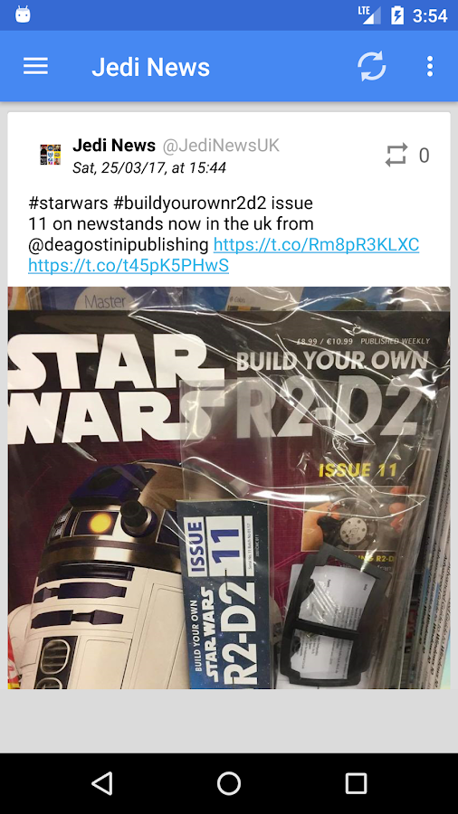 Jedi News- screenshot