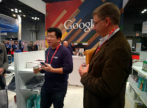 Photo: Google brought some of its new solutions for retailers and shoppers to #nrf14. #throughglass