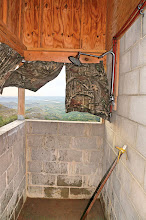 Photo: The open-air shower was quite an experience (including uneven floor that did not drain), but I challenge you to find a shower with a better view.
