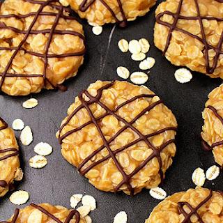 No Bake Vegan Peanut Butter Oatmeal Cookies.