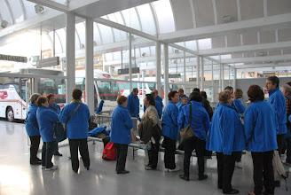Photo: fotos de Lluís Itarte participants de la PDE amb l'autobus cap a Saragossa
