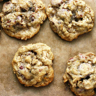 Oatmeal, Chocolate Chip and Pecan Cookies.