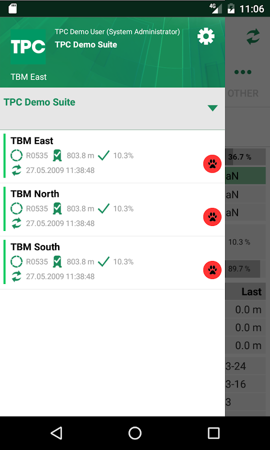 TPC - Tunnelling Process Control- screenshot