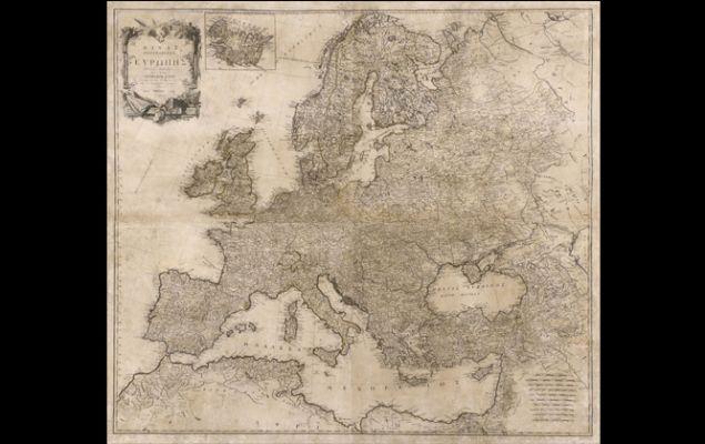 Ο μεγάλος χάρτης της Ευρώπης του Ανθιμου Γαζή