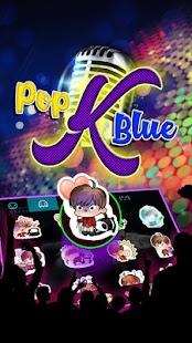 Pop K Blue Theme&Emoji Keyboard - náhled