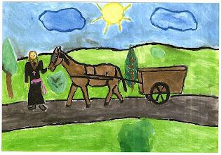 Photo: Praca konkursowa, 2001 r. Monika, lat 12.