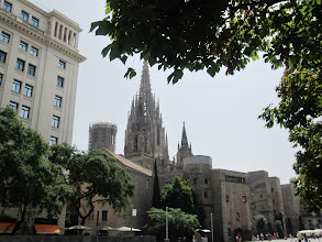 Photo: View of Barcelona Cathedral