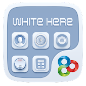 White Here GO Launcher Theme