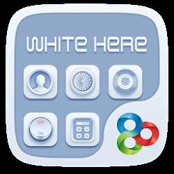White Here GO Launcher Theme