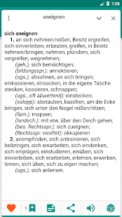 Dictionary of German Synonyms - Offline - náhled