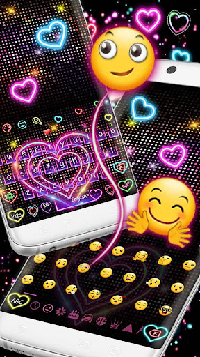 Neon Heart Keyboard 10001006 screenshots 3