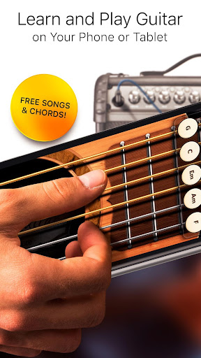 Real Guitar Free - Chords, Tabs & Simulator Games screenshot 1