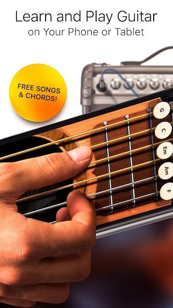 Real Guitar Free - Chords, Tabs & Simulator Games Android App Screenshot