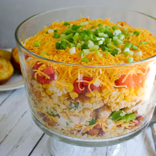 Southwest Chicken Cornbread Salad