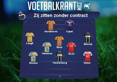 Deze spelers met een recent verleden in de Jupiler Pro League zitten zonder contract