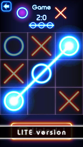 Tic Tac Toe glow - Free Puzzle Game 2.6 screenshots 2