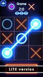 Tic Tac Toe glow - Free Puzzle Game APK screenshot thumbnail 2