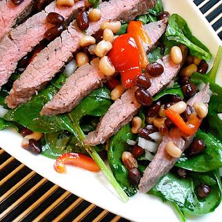 Spinach & Flank Steak Salad