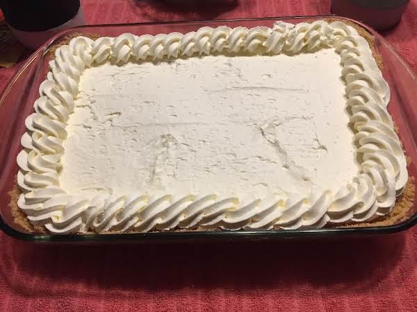 No Bake Cheesecake With A Graham Cracker Crust