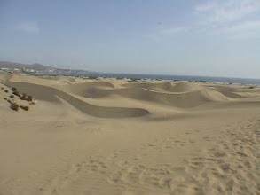 Photo: Grand Canaria'da uçsuz bucaksız Kum tepeleri Sand dunes in Grand Canaria