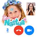 Video call with Like Nastya - fake chat icon