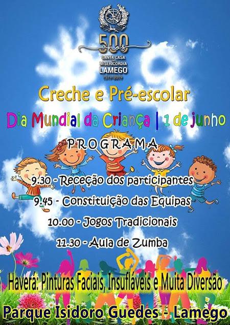 Misericórdia de Lamego festeja Dia da Criança com insufláveis e jogos tradicionais