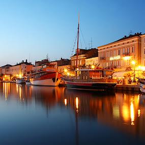 Mali Lošinj, Croatia by Denis Klicic - City,  Street & Park  Street Scenes ( lights, sunset, boats, night, seaside, city )