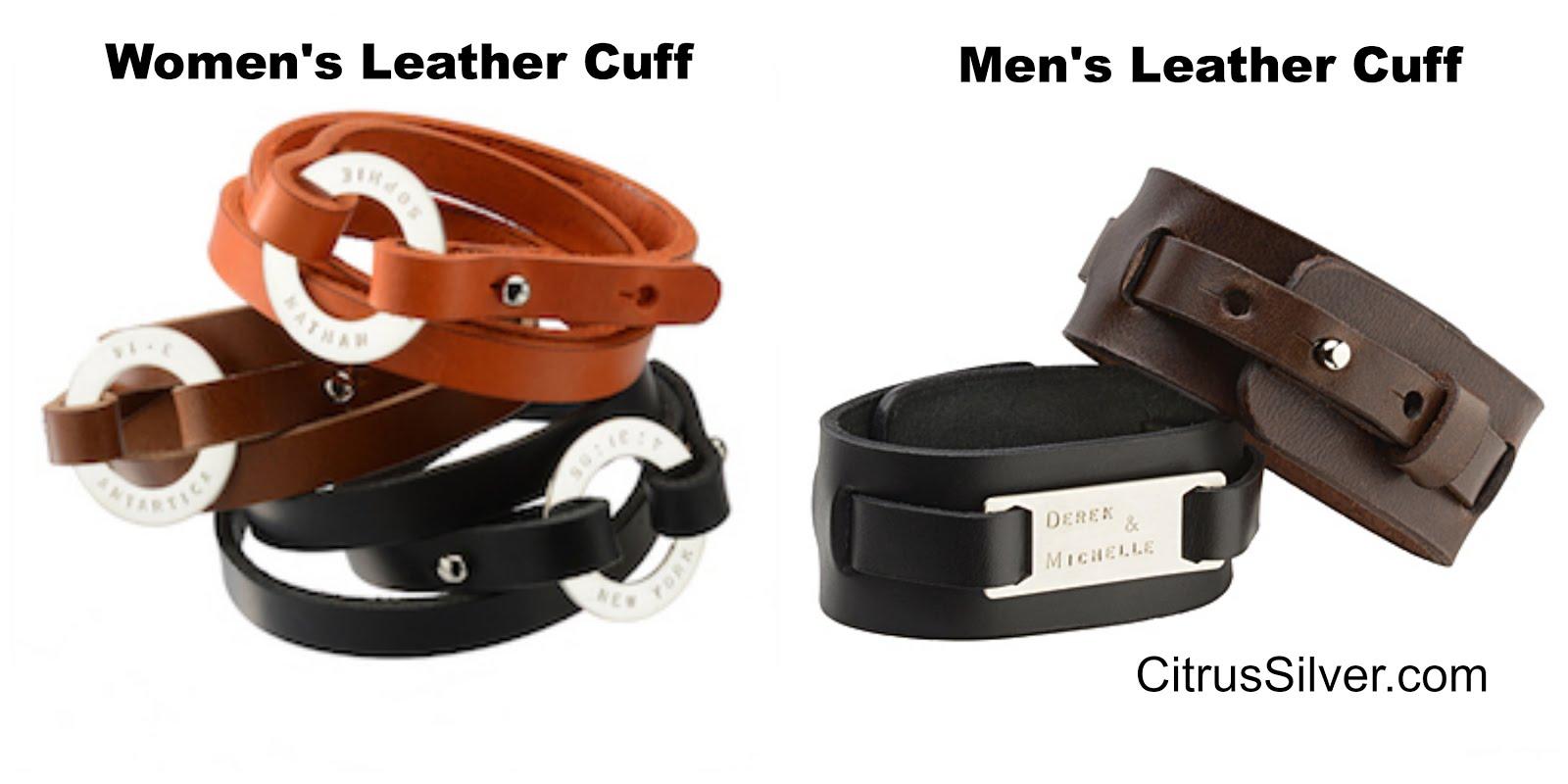 Men's & Women's Leather Cuffs by Citrus Silver.jpg