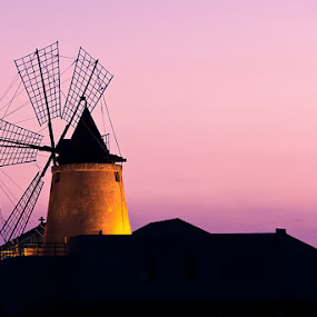 Windmill at sunset by Luca Bonisolli - Buildings & Architecture Other Exteriors