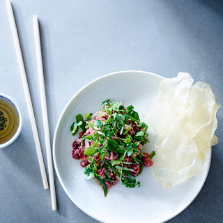 Beef Tartare With Herbs And Nuoc Cham.