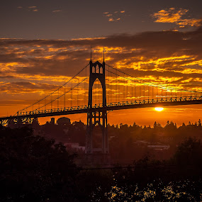 Fire in the sky by Ivan Johnson - Buildings & Architecture Bridges & Suspended Structures (  )