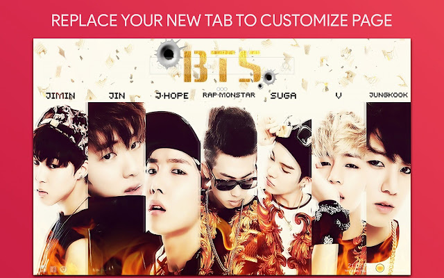Bangtan Boys Wallpaper HD Custom New Tab