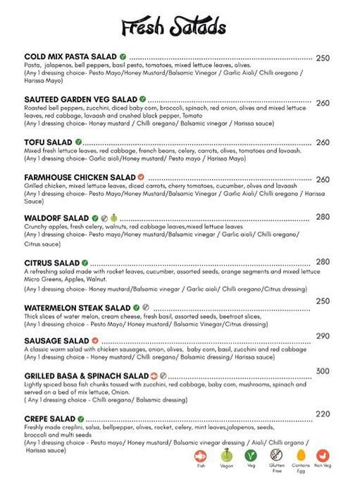 Dcrepes Cafe menu 2