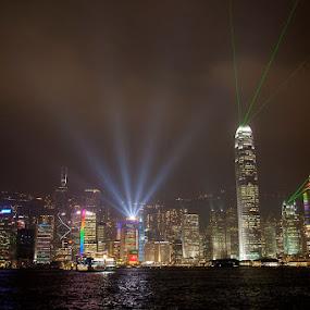 Symphony of Lights by Tiffany Bailey - City,  Street & Park  Skylines
