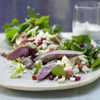 Lamb Fillet, Purslane and Arugula Salad