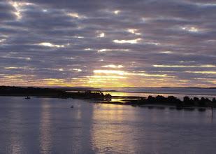 Photo: Sunrise over Beaufort's barrier islands