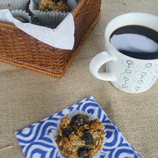 Gluten Free Blueberry Oat Muffins.