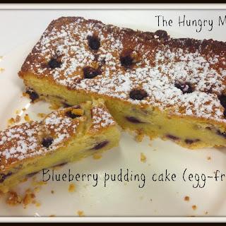 Blueberry Pudding Cake (egg-free)