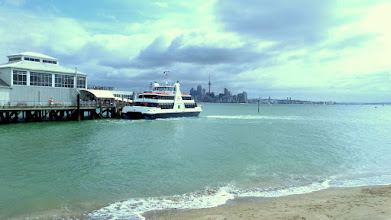 Photo: Our group enjoyed the 10 minute ferry boat ride that transported us from Auckland to Devonport.