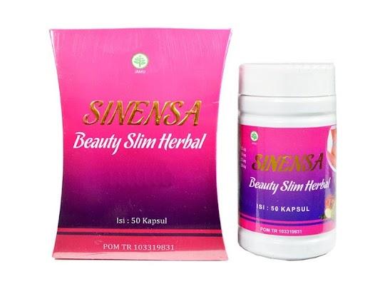 Sinensa Beauty Slim Herbal Herbal Pelangsing sekaligus Suplemen Pemutih Kulit Alami Sinensa original melangsingkan memutihkan