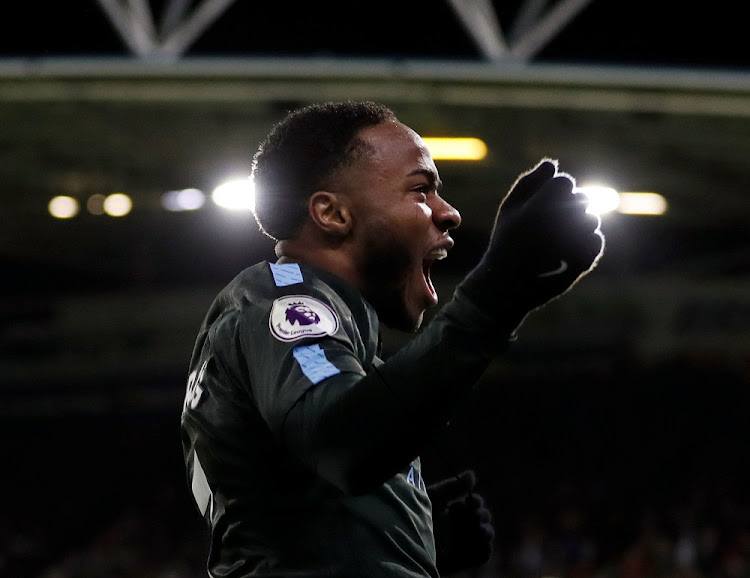 Career high: Manchester City's midfielder Raheem Sterling celebrates. Picture: REUTERS