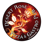 Logo for Desert Rose Pizza & Gastro Pub