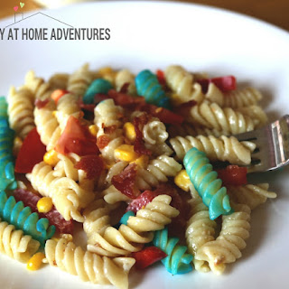 Red, White, and Bleu Cheese Pasta Salad
