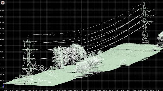 Imagen de la cámara especial termográfica para la revisión de las líneas.