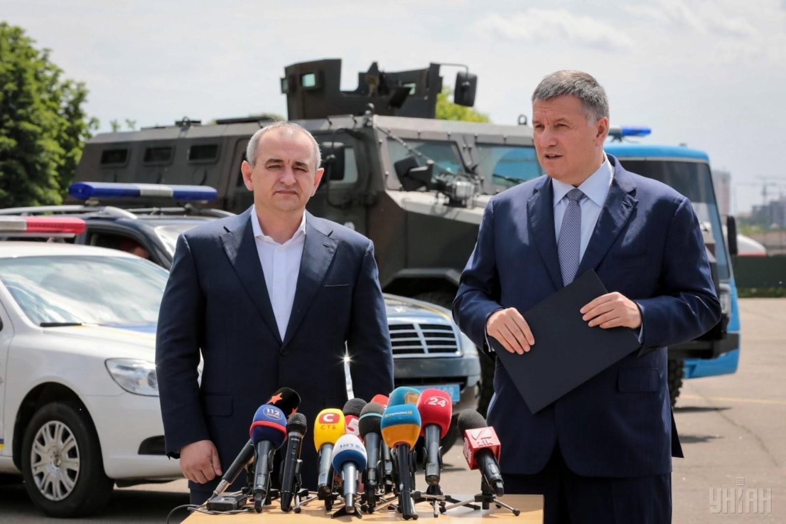Керівник МВС Арсен Аваков та головний військовий прокурор Анатолій Матіос