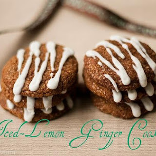 Iced-Lemon Ginger Cookies