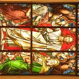Jesus on Glass art, Trieste  by Luka Mitrović - Public Holidays Easter ( jesus, window, religion,  )