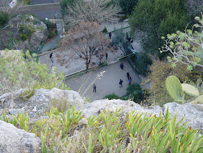 Photo: More petanque at the base of the hill.