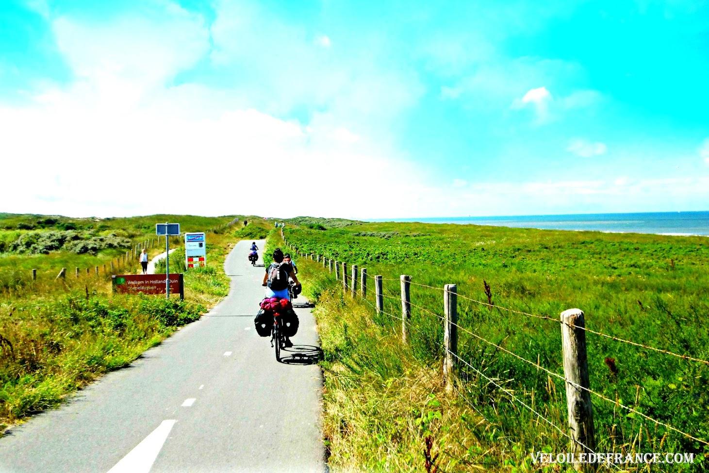 L'autoroute à vélo de la Mer du Nord aux Pays-Bas - Circuit à vélo aux Pays-Bas de Leiden (Leyde) au parc de Keukenhof par veloiledefrance.com